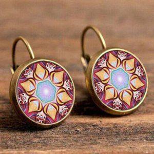 Leverback Flower Earrings